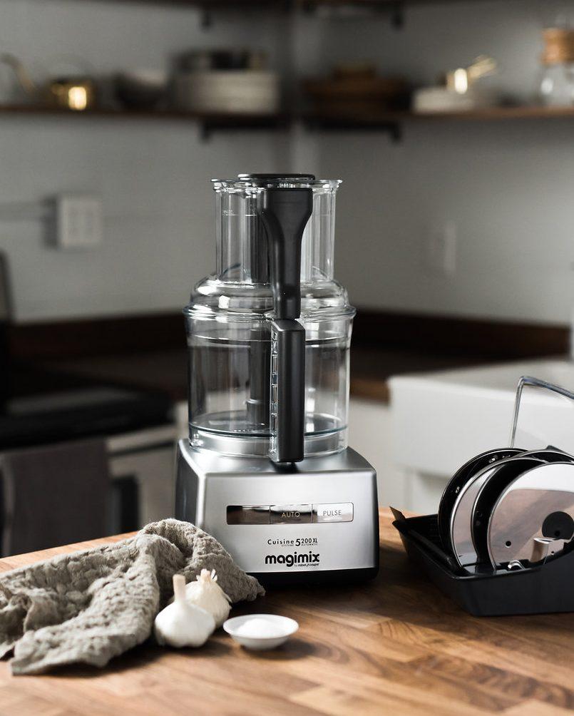 Magimix food processor on kitchen countertop